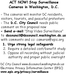 Act now to stop cameras in Washington, D.C.